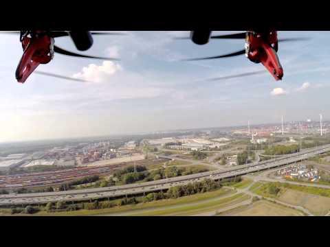 Auge in Auge mit dem größten Windrad der Welt in Altenwerder DJI F-550