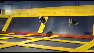 Backflips and jumps at Sky High Sports