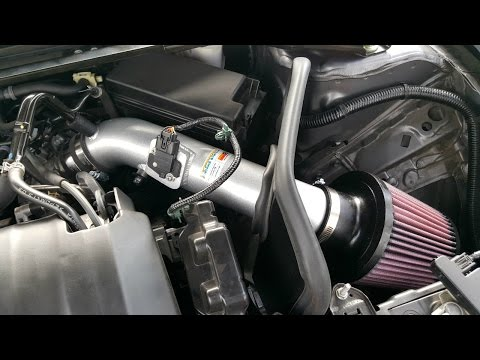 DIY Tutorial Honda Accord K&N Typhoon Intake Systems Installation with Sample sound clips