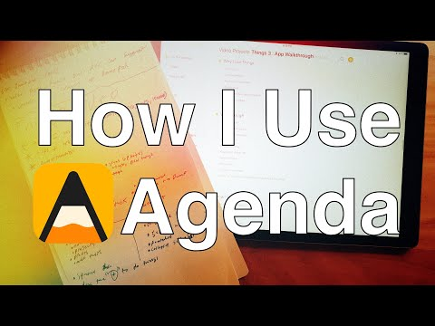 iPad Productivity: How I Use Agenda