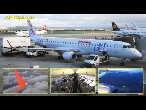 Air Europa Embraer 195 Madrid to Palma de Mallorca  [AirClips full flight series]