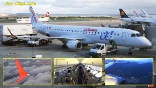 Air Europa Embraer 195 Madrid to Palma de Mallorca  [AirClips full flight series]