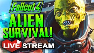 Fallout 4 Gameplay ALIEN SURVIVAL CHALLENGE PC Mod Live Stream