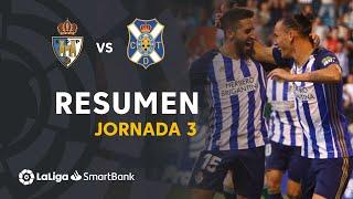 Resumen de SD Ponferradina vs CD Tenerife (4-0)