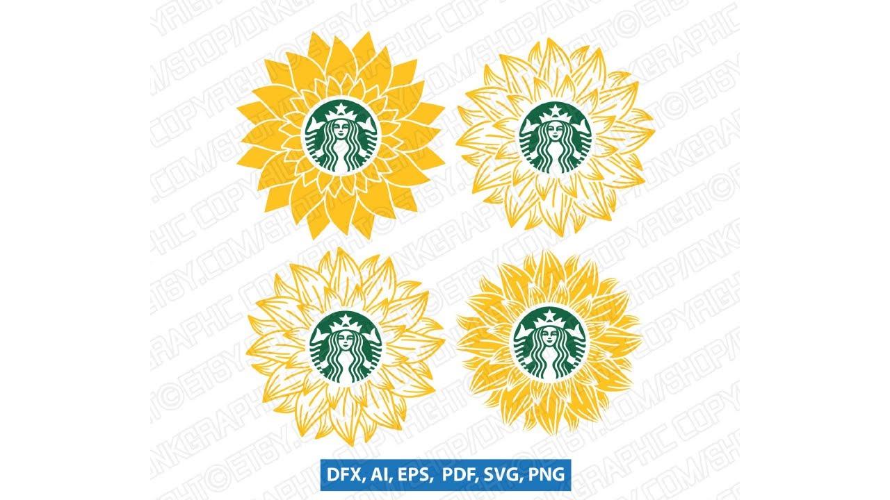 Download 4 Sunflower Starbucks SVG Tumbler, Mug, Cold Cup, Decal ...