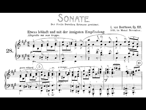 Beethoven: Sonata No.28 in A Major, Op.101  (Levit, Lewis, Korstick)