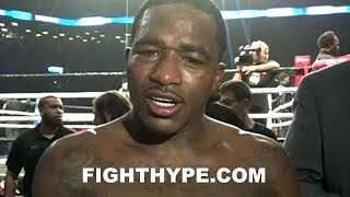 ADRIEN BRONER SECONDS AFTER FIGHTING JESSIE VARGAS TO A DRAW; REACTS TO OUTCOME & GOT JOKES