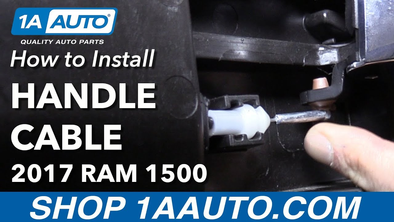 How To Replace Front Interior Door Handle Cable 09 18 Ram 1500 Youtube