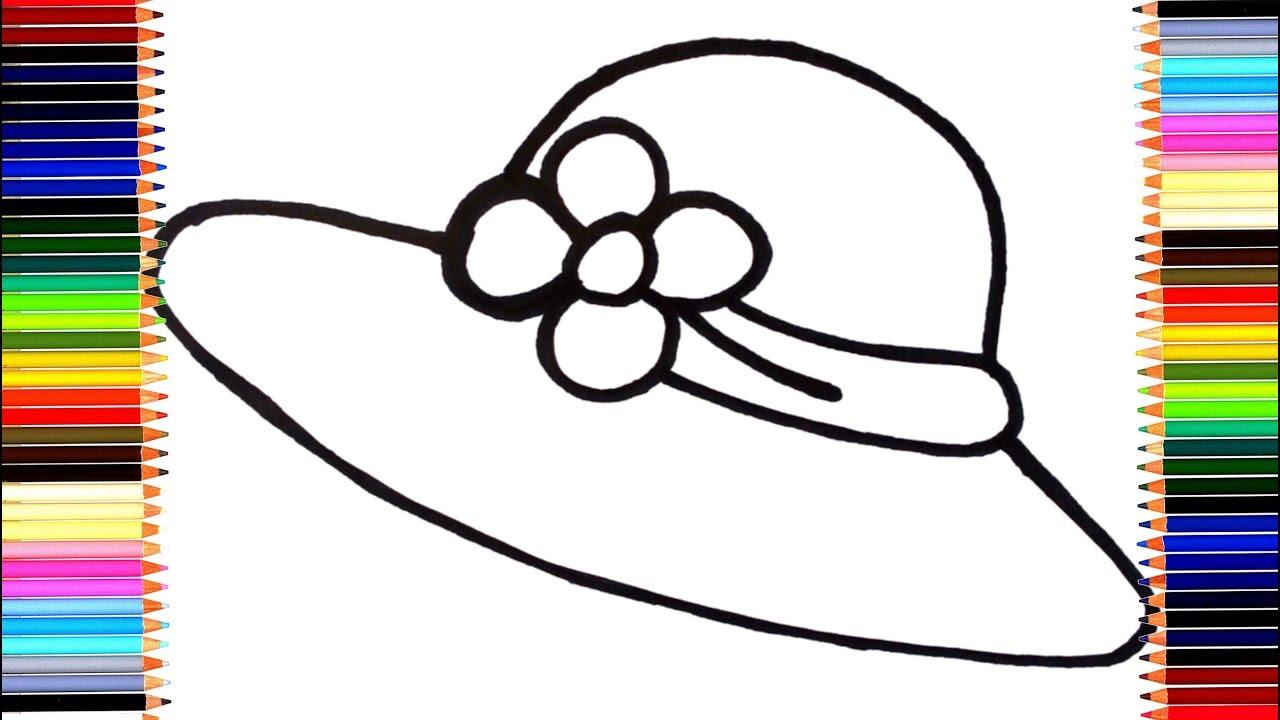 Как нарисовать шляпу / мультик раскраска шляпа для детей ...