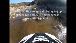 Arizona extreme off road dirt bike suspension testing