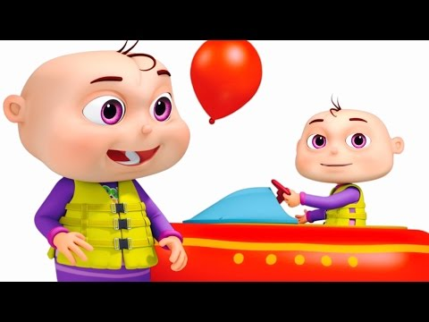 Thumbnail: Five Little Babies Playing In Water Park | Learn Colors For Children | Original Learning Songs
