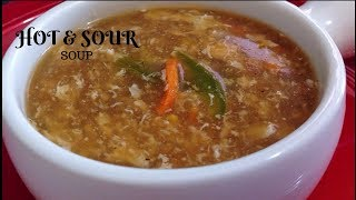 Hot and Sour Soup-homemade soup-easy soup recipe by (HUMA IN THE KITCHEN)