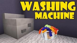 How To Make WASHING MACHINE | Minecraft PE (Pocket Edition) MCPE