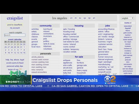 Craigslist Drops Personal Ads from YouTube · Duration:  25 seconds