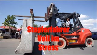 Staplerfahrer voll im Stress 12 Niemals Vorwerts Fahren
