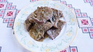 Печень рецепт в вине ОЧЕНЬ ВКУСНО Как приготовить свиную печень Свиняча печінка рецепт Печень свиная