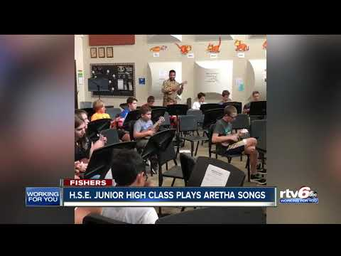 Hamilton Southeastern High School class plays Aretha songs