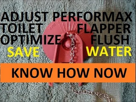 Adjust Fluidmaster Performax 502 Flapper Save Water