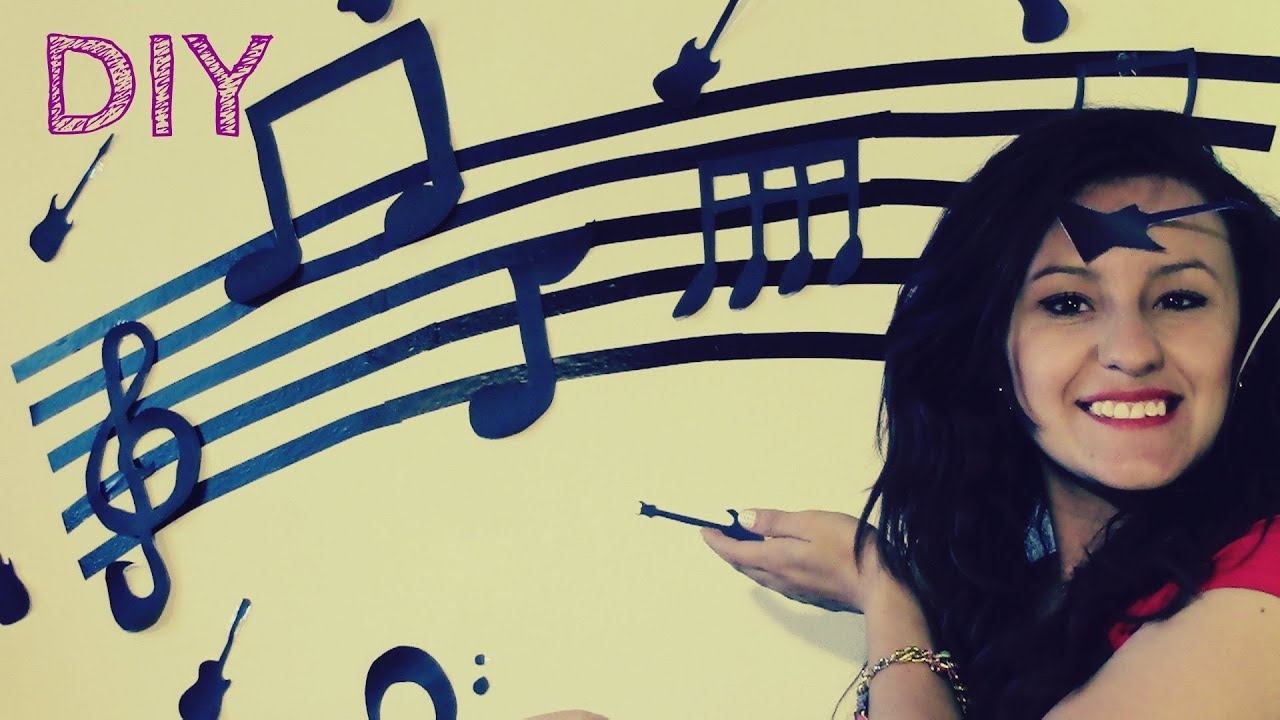 Decora tu cuarto notas musicales diy youtube - Como decorar mi habitacion ...
