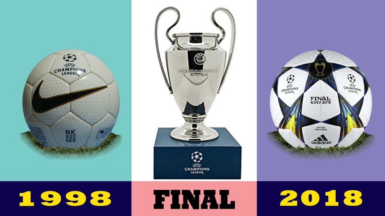 53eb634c0 The Evolution Of The UEFA Champions League Final Ball 1998 - 2019 | History  of Ball