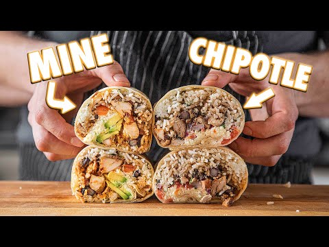 Making The Chipotle Burrito At Home | But Better - Joshua Weissman
