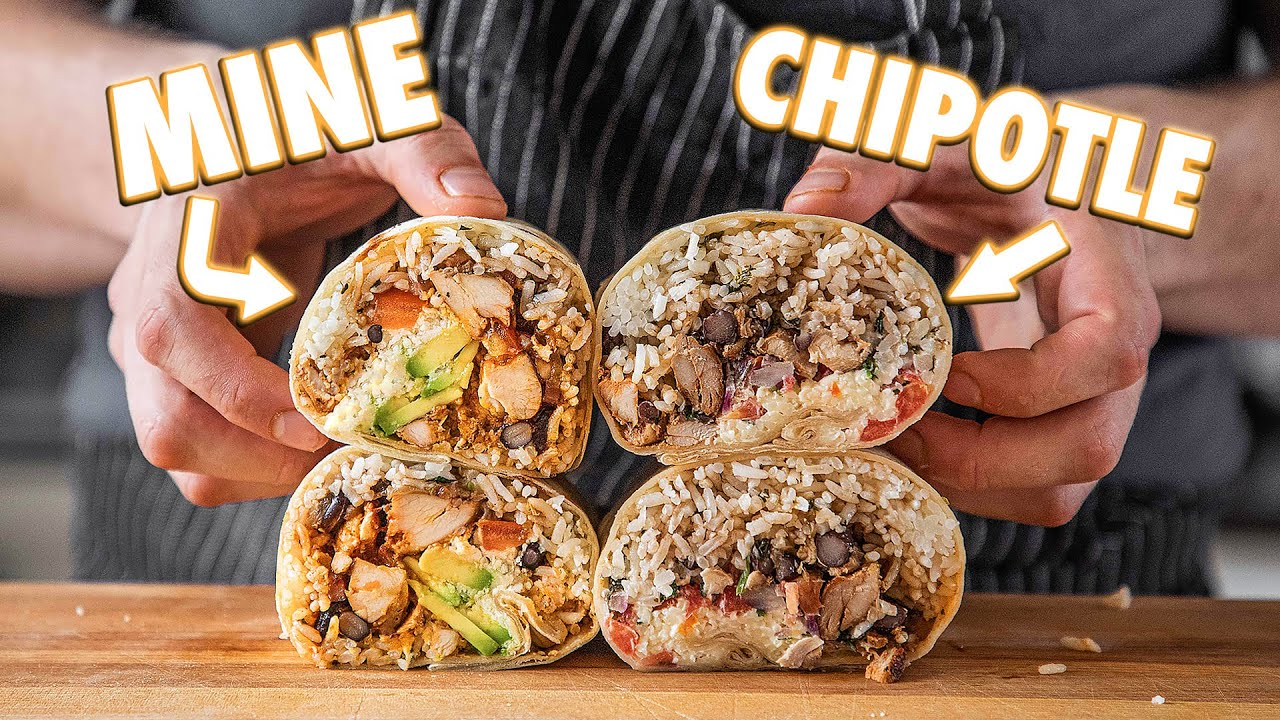 Making The Chipotle Burrito At Home | But Better