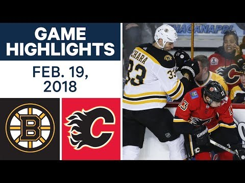 NHL Game Highlights | Bruins vs. Flames – Feb. 19, 2018