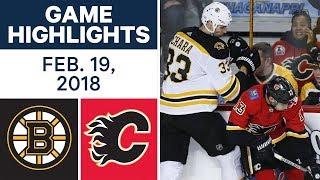 NHL Game Highlights | Bruins vs. Flames - Feb. 19, 2018