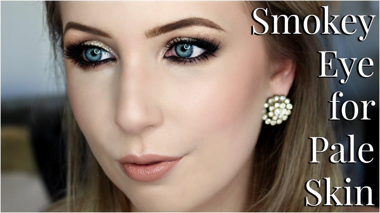 smokey eye makeup for pale skin   tips & tricks tutorial