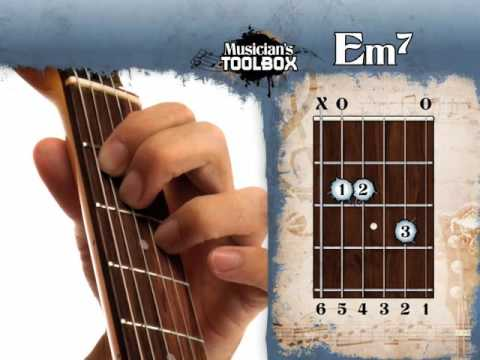 How to play the E minor 7 chord on guitar Em7 - YouTube