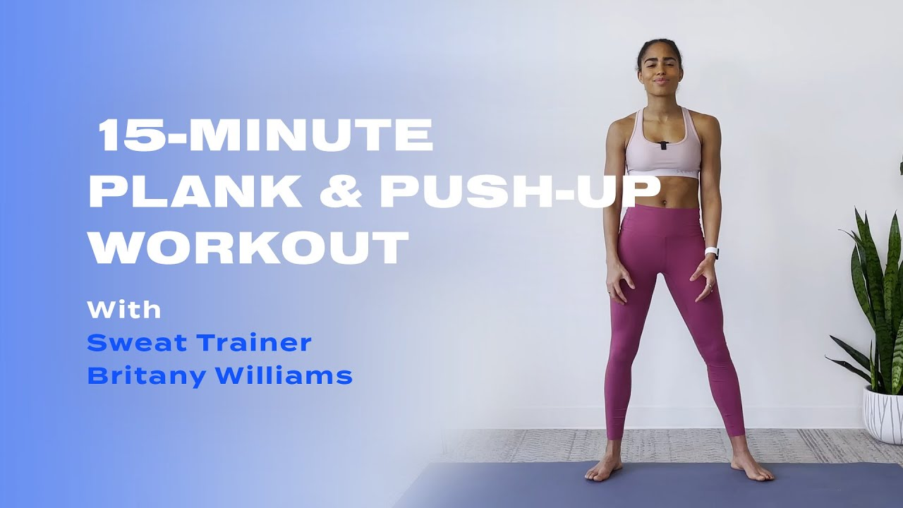 15-Minute Plank & Push-Up Barre Workout With Britany Williams