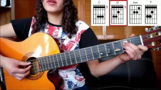 The Show Lenka tutorial guitarra ( Como tocar )