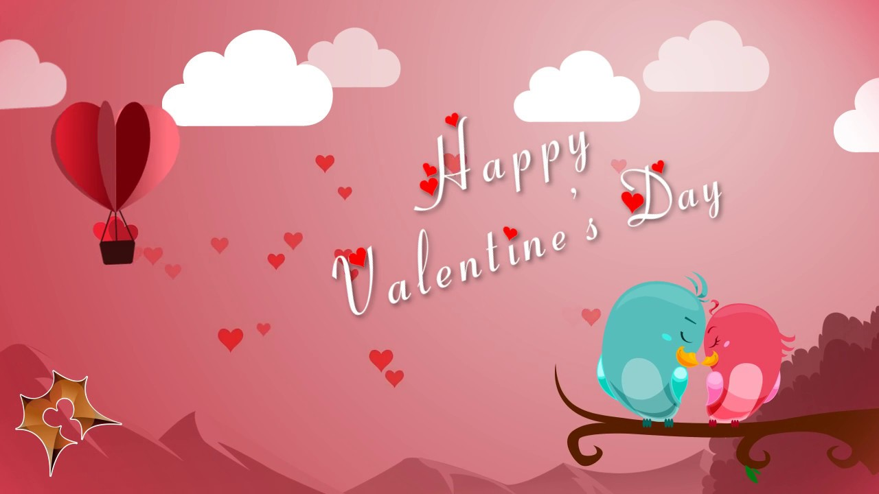 happy valentines day e card motion graphics - Valentine039s Day Greeting Cards