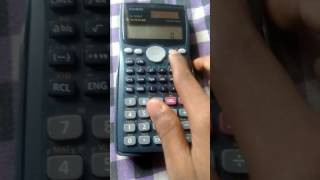 How to find probability using z- score with Casio fx 991ms calculator