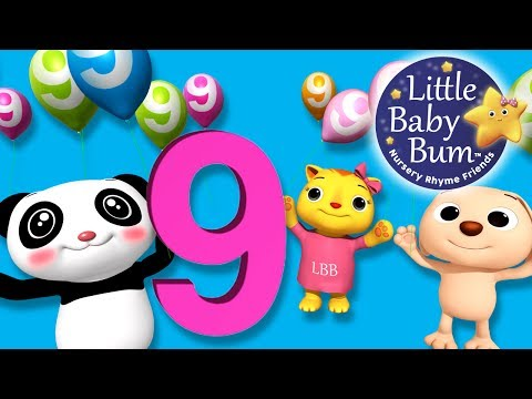 Numbers Song | Number 9 | Nursery Rhymes | Original Song By LittleBabyBum!