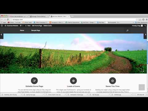 Create a Business Website in WordPress – 2015