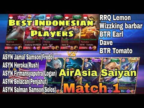 Airasia Saiyan vs Best Indonesian Players match 1(Rank match)
