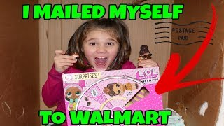I Mailed Myself To Walmart to Get LOL Confetti Pops And It Worked!! Skit