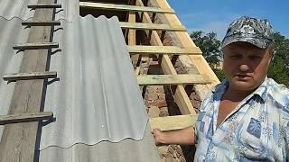 как правильно уложить шифер на крыше дома