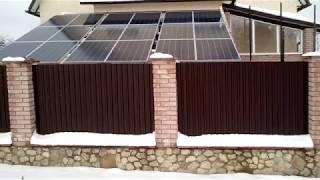 Солнечные батареи.Домашняя электростанция.Установка.
