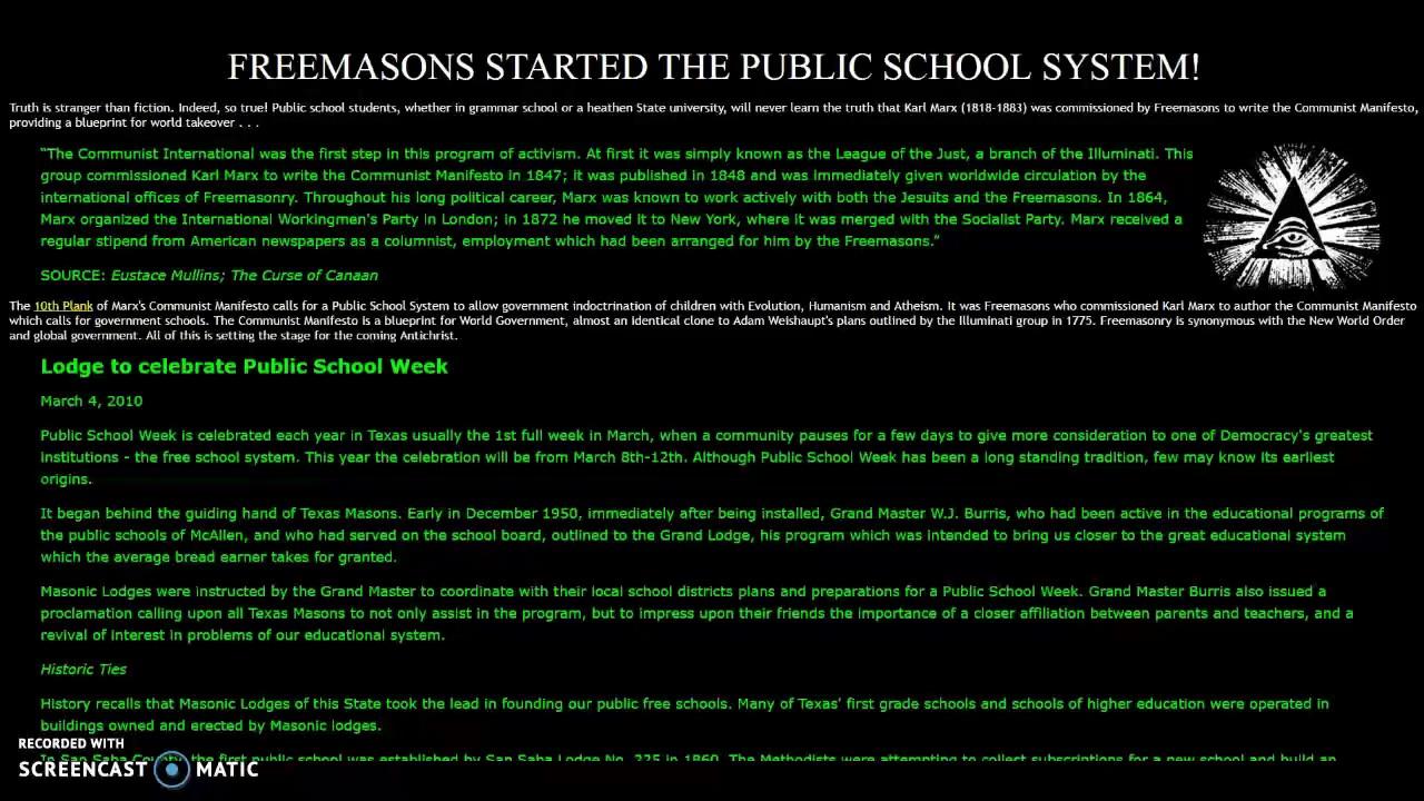 Freemasons started the public school system youtube freemasons started the public school system malvernweather Images
