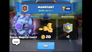 Clash Royale Super Magical Chest From Battle Cycle Reaction Legendary Arena