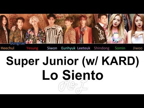 Super Junior 슈퍼주니어 - Lo Siento (feat. KARD) (Color Coded Lyrics ENGLISH/ROM/HAN)