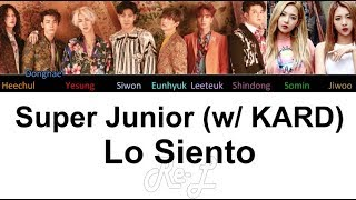 Download Video Super Junior 슈퍼주니어 - Lo Siento (feat. KARD) (Color Coded Lyrics ENGLISH/ROM/HAN) MP3 3GP MP4