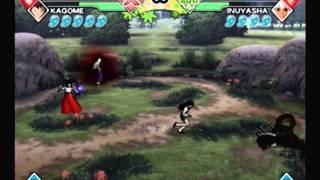 Inuyasha Feudal Combat Kikyo & Kagome VS Naraku and Demon Inuyasha