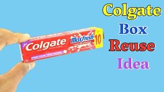 Best Out Of Waste Colgate Box Craft | DIY Art And Craft | Colgate Box Reuse Idea | Basic Craft Kids