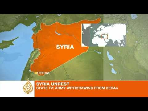 Activist speaks to Al Jazeera from the outskirts of Deraa