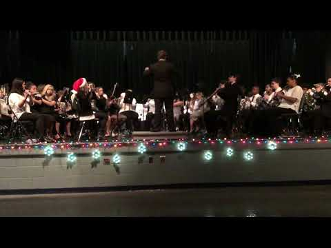 2018 Dec. 13 Concert - Combined 8th Grade And SGHS Bands