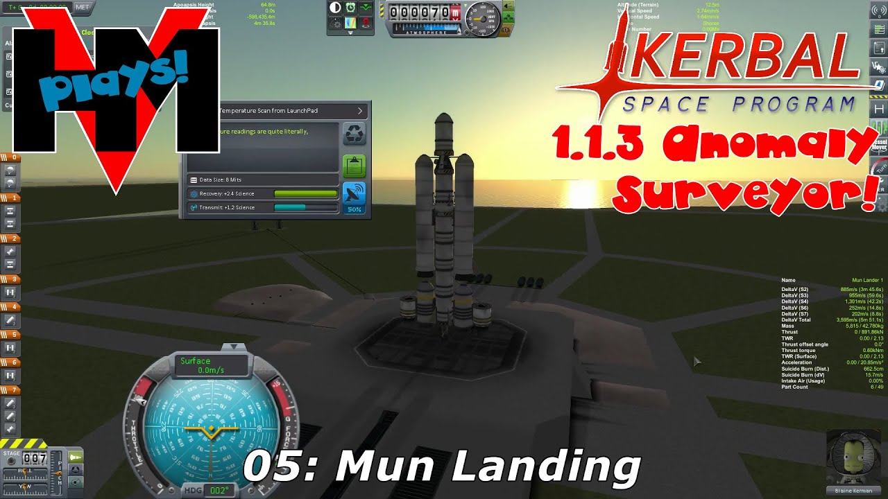 HMV Plays KSP 1 1 3 Anomaly Surveyor! 05 - Mun Landing - YouTube