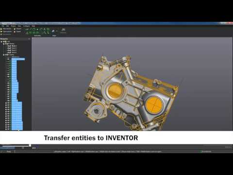 Reverse engineering and simplified scan-to-CAD workflow with VXmodel and Autodesk Inventor